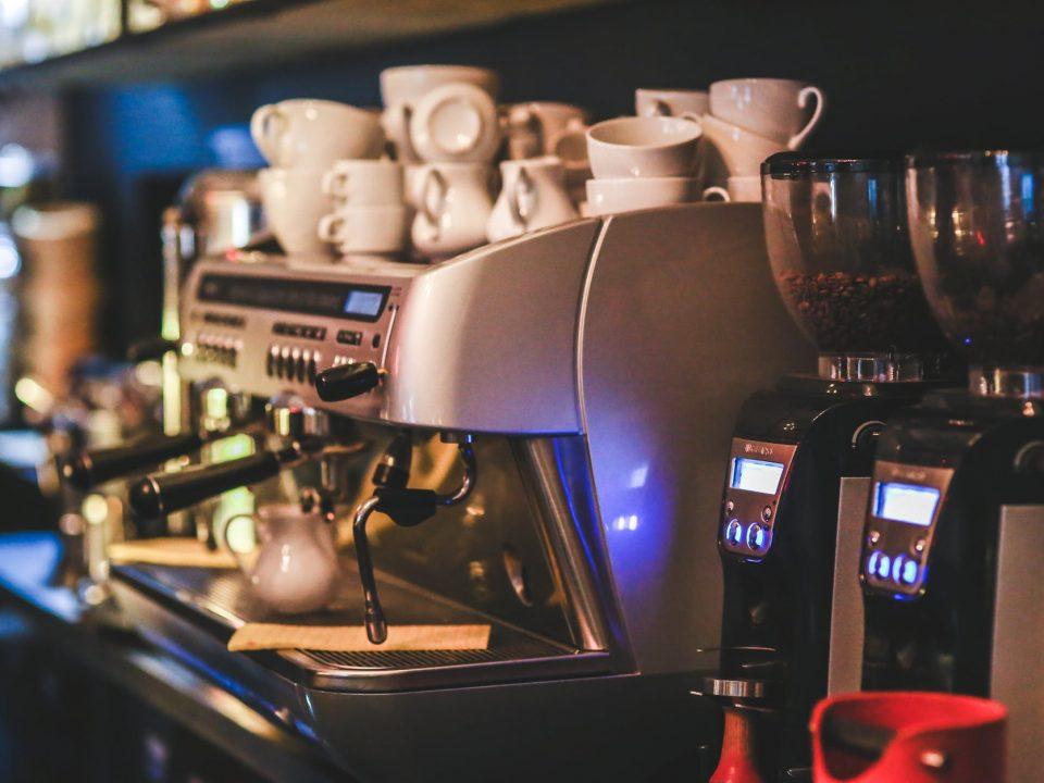 pulizia della macchina da caffè